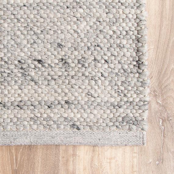 FRAAI Wollen vloerkleed - Feline Grijs/Gemeleerd