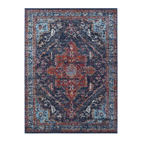 Nouristan Vintage vloerkleed - Lugar Azrow Donker Blauw