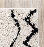 FRAAI Hoogpolig vloerkleed - Grand Outline Creme/Zwart