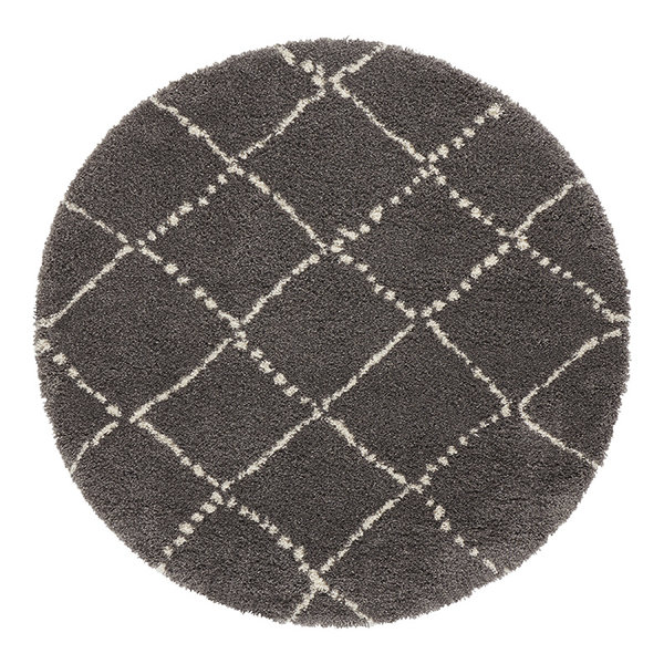 Mint Rugs Rond vloerkleed - Allure Hash Antraciet