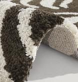 Mint Rugs Hoogpolig vloerkleed - Allure Desert Bruin Creme