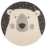 Zala living Rond kindervloerkleed - IJsbeer Emmet