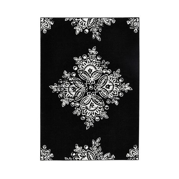 Hanse Home Vintage vloerkleed - Gloria Medaillon Zwart