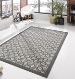 Hanse Home Laagpolig vloerkleed - Gloria Tile Grijs