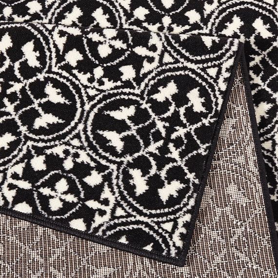 Hanse Home Laagpolig vloerkleed - Gloria Pattern Zwart