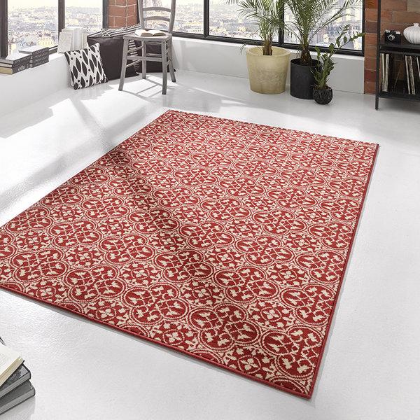 Laagpolig vloerkleed - Gloria Pattern Rood