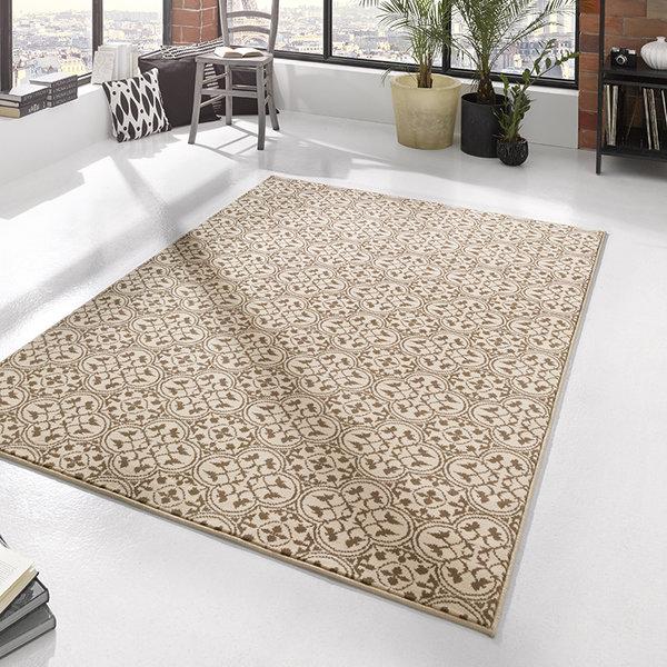 Laagpolig vloerkleed - Gloria Pattern Beige