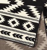 Hanse Home Laagpolig vloerkleed - Gloria Ethno Zwart
