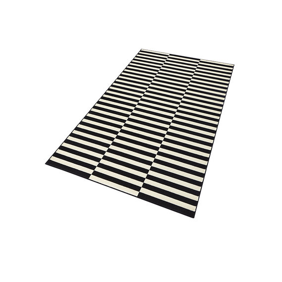 Hanse Home Laagpolig vloerkleed - Gloria Panel Zwart