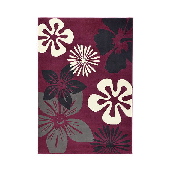 Hanse Home Bloemen vloerkleed - Gloria Flora Paars