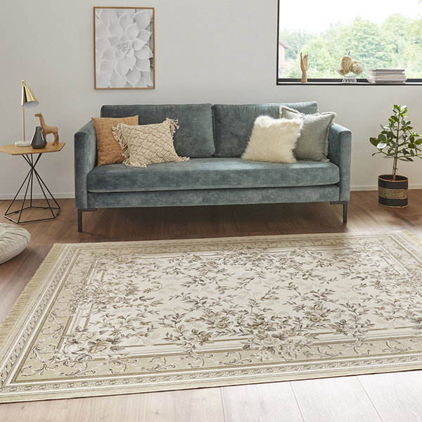 Perzisch tapijt - Naveh Flowers Creme Beige
