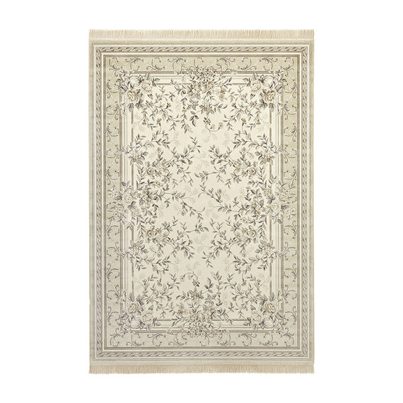 Nouristan Perzisch tapijt - Naveh Flowers Creme Beige