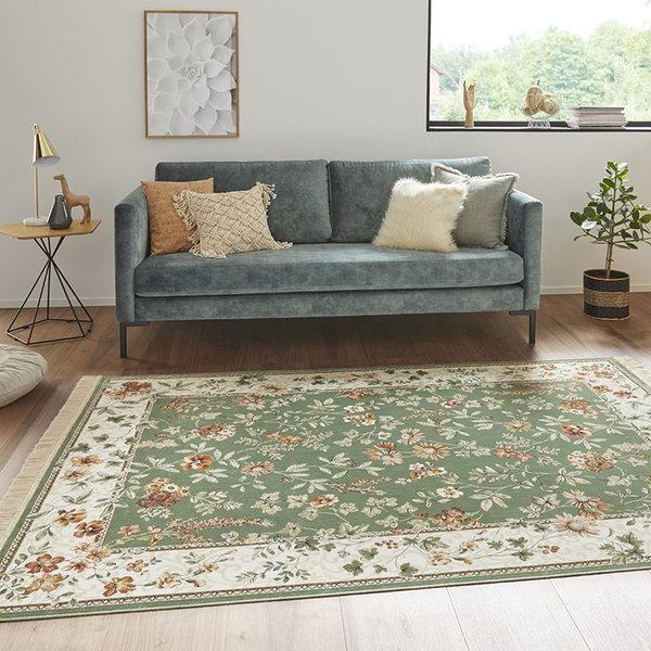Perzisch tapijt - Naveh Flowers Groen