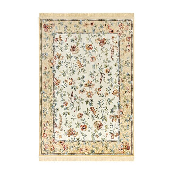 Nouristan Perzisch tapijt - Naveh Flowers Edge Creme