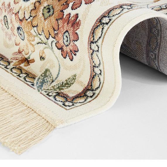 Nouristan Perzisch tapijt - Naveh Flowers Original Creme