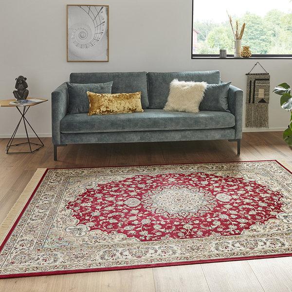 Perzisch tapijt - Naveh Nain Rood Groen