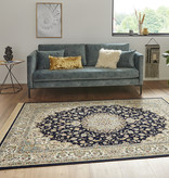 Nouristan Perzisch tapijt - Naveh Nain Donkerblauw
