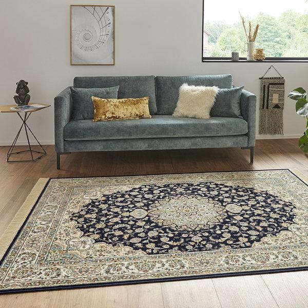 Perzisch tapijt - Naveh Nain Donkerblauw