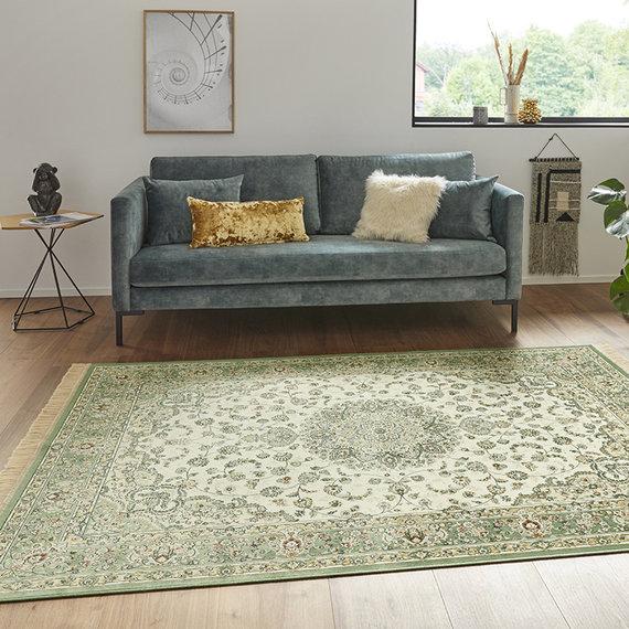 Nouristan Perzisch tapijt - Naveh Nain Ivory Groen