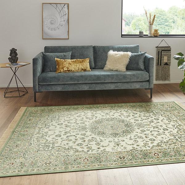 Perzisch tapijt - Naveh Nain Ivory Groen