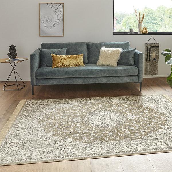 Perzisch tapijt - Naveh Nain Olijfgroen