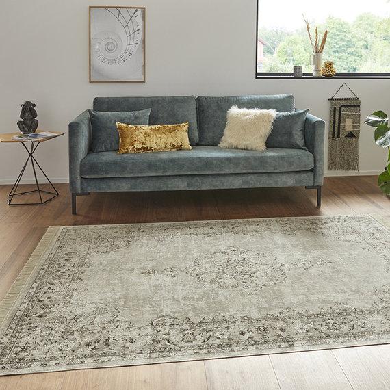 Nouristan Perzisch tapijt - Naveh Medaillon Creme