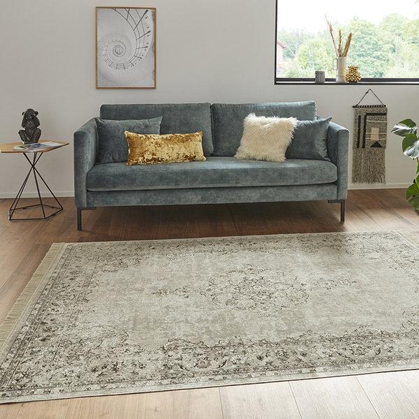 Perzisch tapijt - Naveh Medaillon Creme