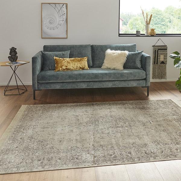 Perzisch tapijt - Naveh Medaillon Olijfgroen