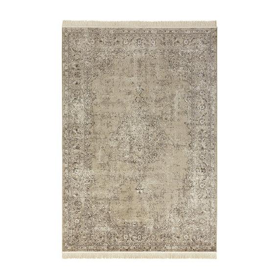 Nouristan Perzisch tapijt - Naveh Medaillon Olijfgroen