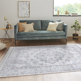 Nouristan Perzisch tapijt - Naveh Hertz Blauw Roze