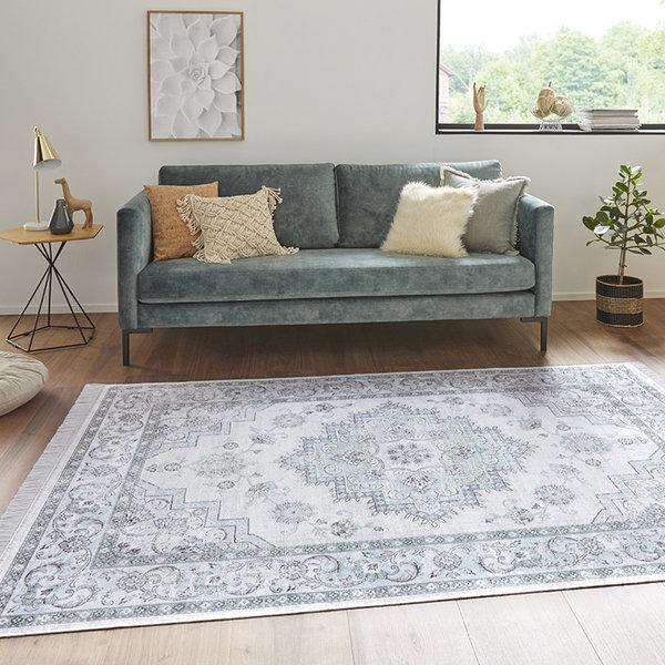 Perzisch tapijt - Naveh Hertz Blauw Groen