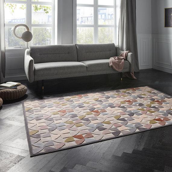 ELLE DECORATION Modern Vloerkleed - Creative Ailette Multi Lichtgrijs