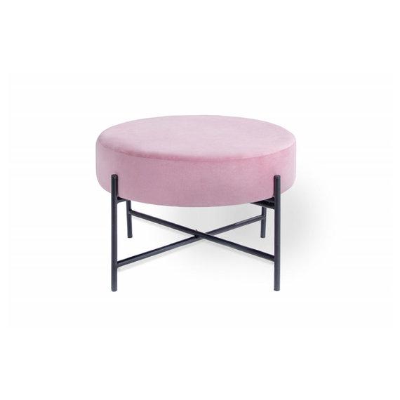 Lifa Living Velvet poef – Mesa Roze