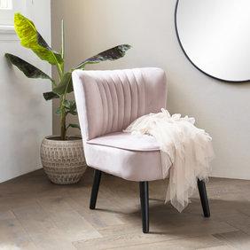 Lifa Living Velvet Fauteuil - Sophie Oud Roze