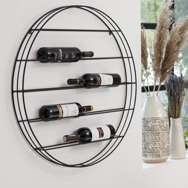 Lifa Living Rond Wijnrek - LaVino Metaal Zwart