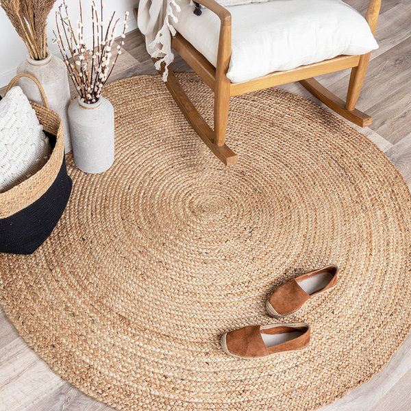 Jute vloerkleed - Fair rond naturel