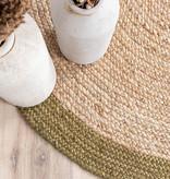 FRAAI Jute vloerkleed - Fair Rond naturel/groen