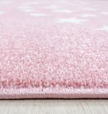 Adana Carpets Kindervloerkleed - Bambi Ster Roze