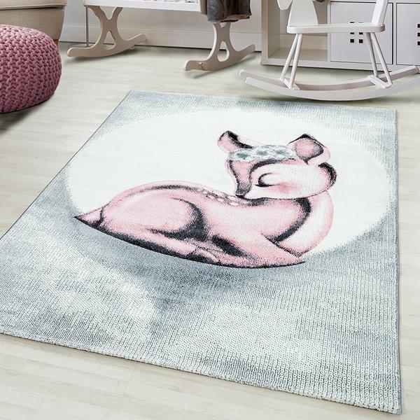 Kindervloerkleed - Bambi Hert Roze
