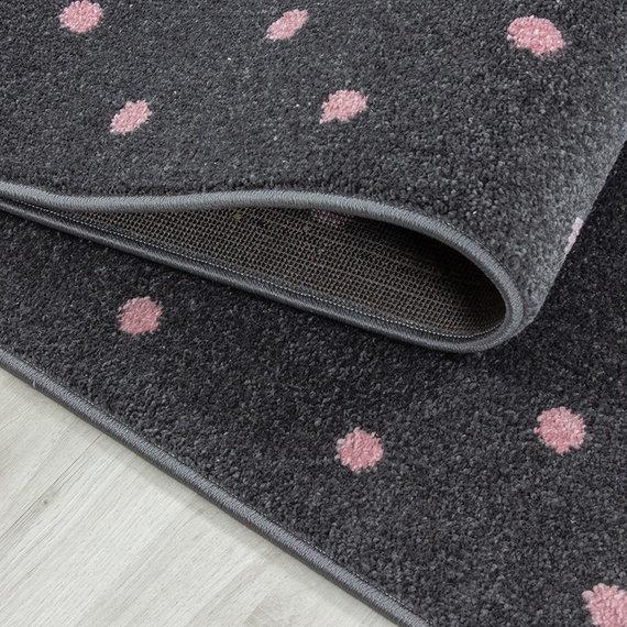Adana Carpets Kindervloerkleed - Bambi Hart Roze