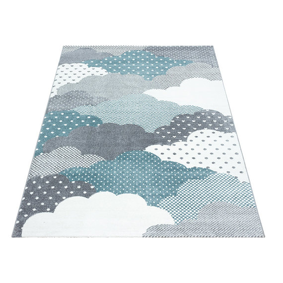 Adana Carpets Kindervloerkleed - Bambi Wolken Blauw
