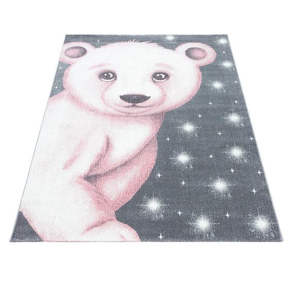 Adana Carpets Kindervloerkleed - Bambi Beer Roze