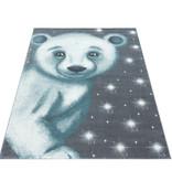 Adana Carpets Kindervloerkleed - Bambi Beer Blauw
