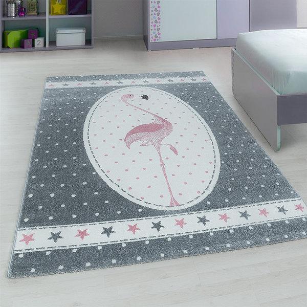Kindervloerkleed - Amber Flamingo Roze