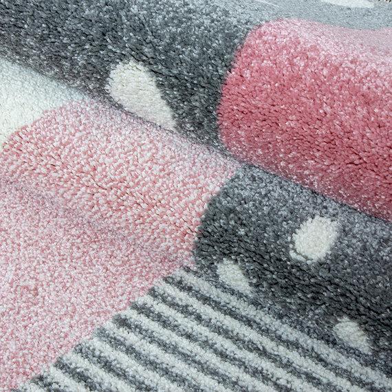 Adana Carpets Rond Kindervloerkleed - Ava Multi Roze