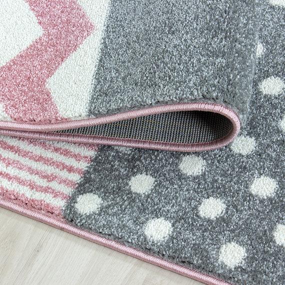 Adana Carpets Kindervloerkleed - Ava Multi Roze
