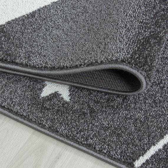 Adana Carpets Rond Kindervloerkleed - Anna Sterren Grijs