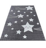 Adana Carpets Kindervloerkleed - Anna Sterren Grijs