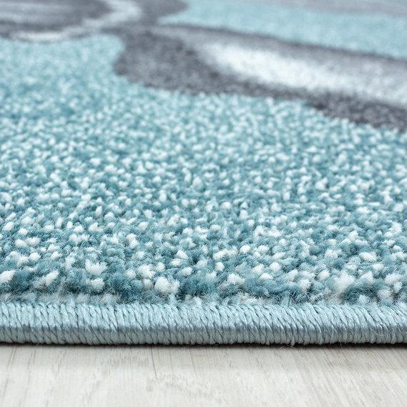 Adana Carpets Rond Kindervloerkleed - Bambi Schildpad Blauw