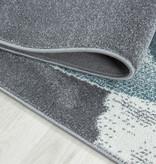Adana Carpets Rond Kindervloerkleed - Bambi Dino Blauw